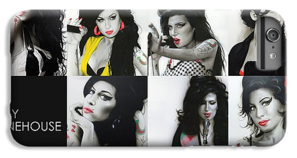Amy Winehouse - ' Amy Eternal ' IPhone 6 Plus Case by Christian Chapman Art