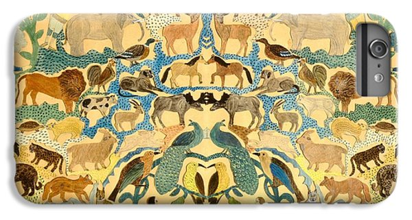 Antique Cutout Of Animals  IPhone 6 Plus Case by American School
