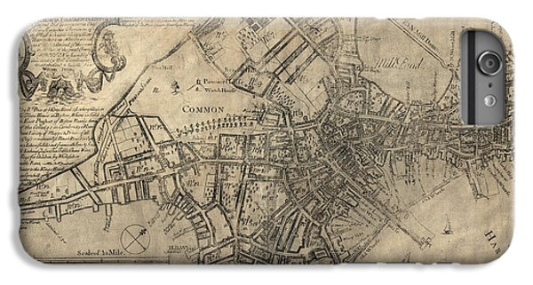 Antique Map Of Boston By William Price - 1769 IPhone 6 Plus Case by Blue Monocle