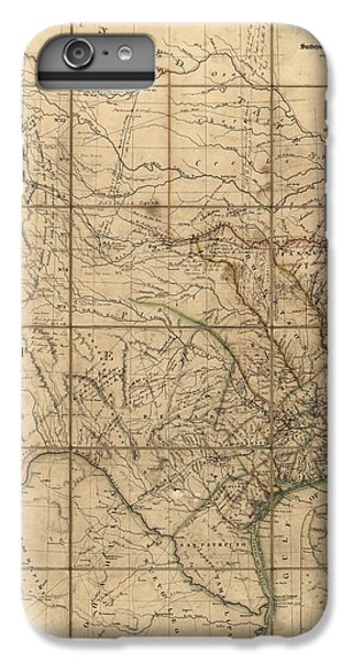 Antique Map Of Texas By John Arrowsmith - 1841 IPhone 6 Plus Case by Blue Monocle