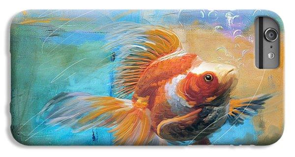 Aqua Gold IPhone 6 Plus Case by Catf