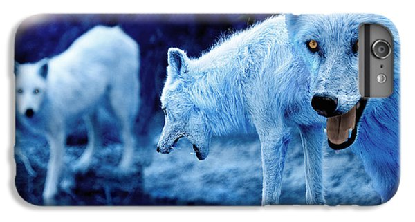 Arctic White Wolves IPhone 6 Plus Case by Mal Bray