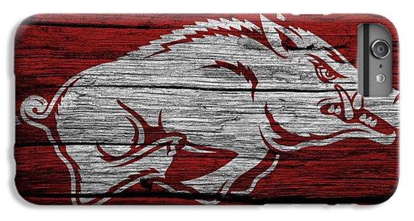 Arkansas Razorbacks On Wood IPhone 6 Plus Case by Dan Sproul