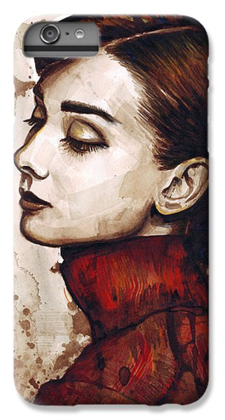 Audrey Hepburn IPhone 6 Plus Case by Olga Shvartsur