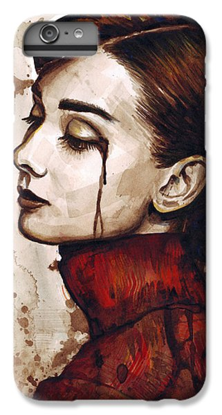 Audrey Hepburn Portrait IPhone 6 Plus Case by Olga Shvartsur