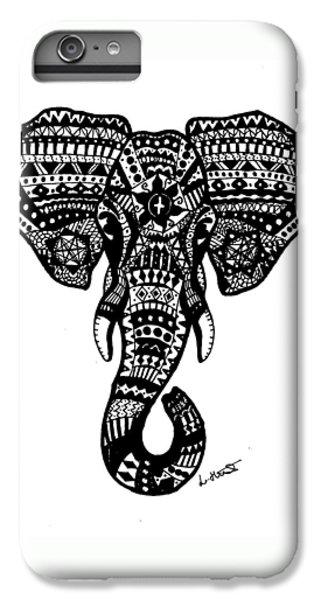 Aztec Elephant Head IPhone 6 Plus Case by Loren Hill