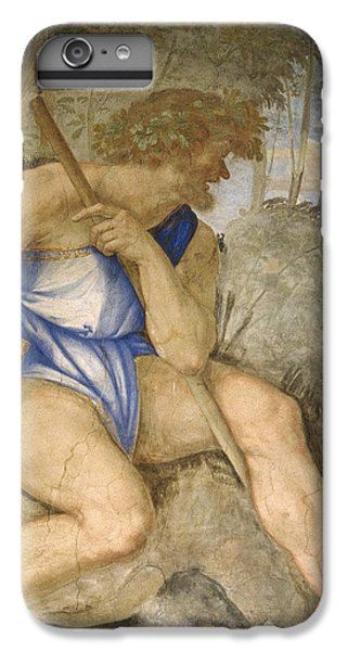 Baldassare Peruzzi 1481-1536. Italian Architect And Painter. Villa Farnesina. Polyphemus. Rome IPhone 6 Plus Case by Baldassarre Peruzzi