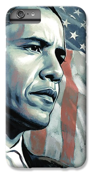 Barack Obama Artwork 2 B IPhone 6 Plus Case by Sheraz A
