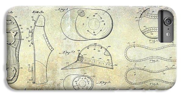 Baseball Patent Panoramic IPhone 6 Plus Case by Jon Neidert