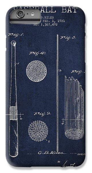 Baseball Bat Patent Drawing From 1921 IPhone 6 Plus Case by Aged Pixel