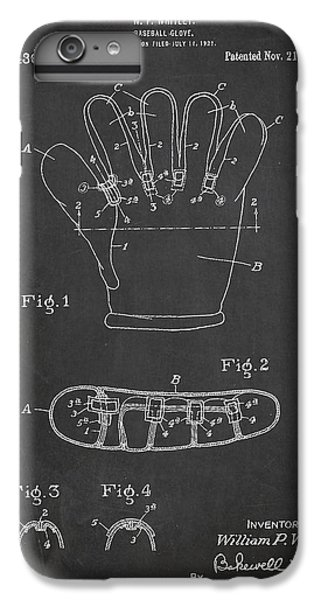 Baseball Glove Patent Drawing From 1922 IPhone 6 Plus Case by Aged Pixel