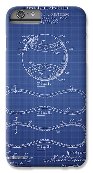 Baseball Patent From 1928 - Blueprint IPhone 6 Plus Case by Aged Pixel