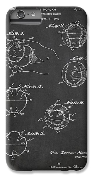 Baseball Training Device Patent Drawing From 1961 IPhone 6 Plus Case by Aged Pixel