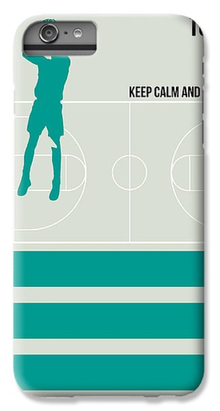 Basketball Poster IPhone 6 Plus Case by Naxart Studio