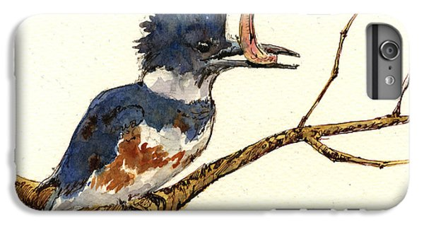 Belted Kingfisher Bird IPhone 6 Plus Case by Juan  Bosco