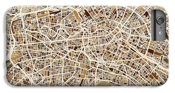 Berlin Germany Street Map IPhone 6 Plus Case by Michael Tompsett