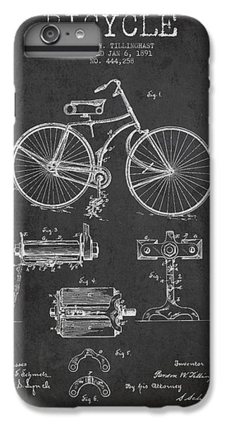Bicycle Patent Drawing From 1891 IPhone 6 Plus Case by Aged Pixel