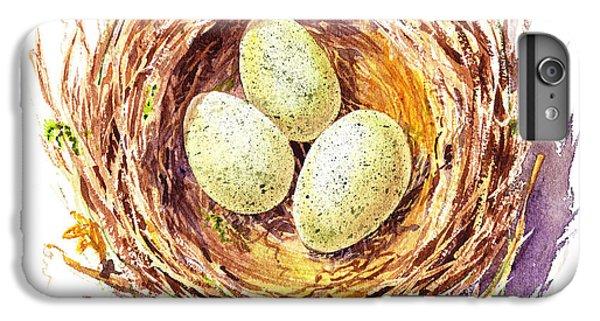 Bird Nest A Happy Trio IPhone 6 Plus Case by Irina Sztukowski