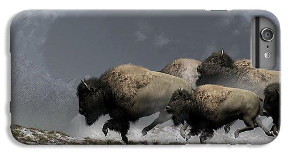 Bison Stampede IPhone 6 Plus Case by Daniel Eskridge