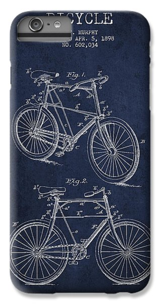 Bisycle Patent Drawing From 1898 IPhone 6 Plus Case by Aged Pixel