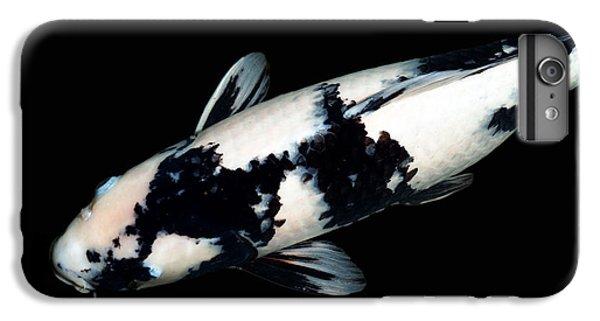 Black And White Koi IPhone 6 Plus Case by Rebecca Cozart