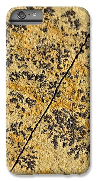 Black Patterns On The Sandstone IPhone 6 Plus Case by Jozef Jankola