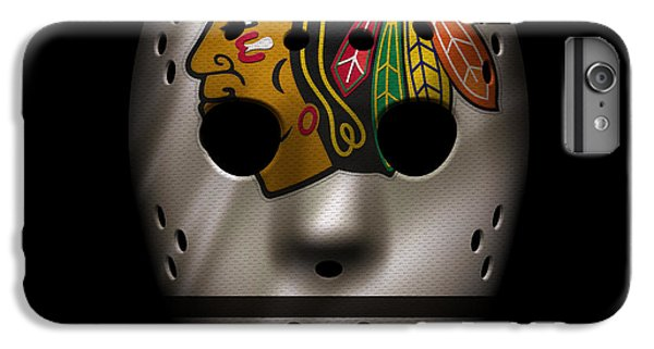 Blackhawks Jersey Mask IPhone 6 Plus Case by Joe Hamilton