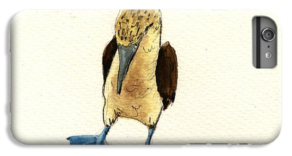 Blue Footed Booby IPhone 6 Plus Case by Juan  Bosco