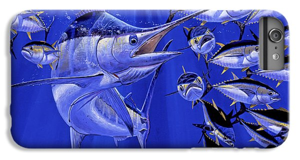 Blue Marlin Round Up Off0031 IPhone 6 Plus Case by Carey Chen