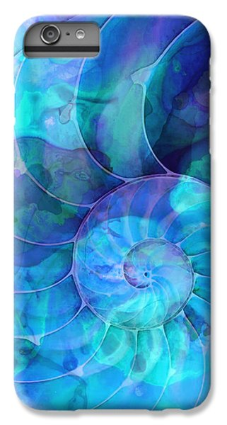 Blue Nautilus Shell By Sharon Cummings IPhone 6 Plus Case by Sharon Cummings