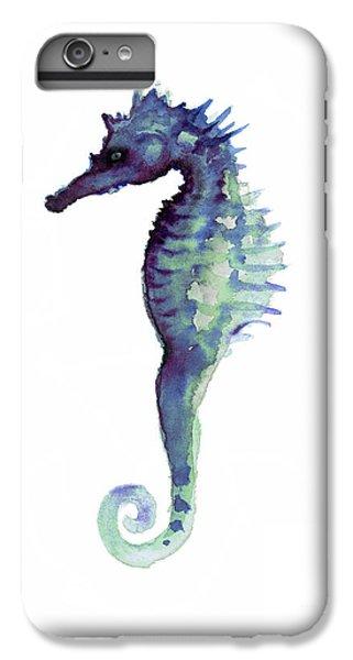 Blue Seahorse IPhone 6 Plus Case by Joanna Szmerdt