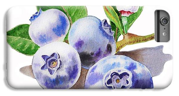 Artz Vitamins The Blueberries IPhone 6 Plus Case by Irina Sztukowski