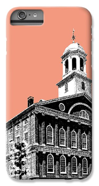 Boston Faneuil Hall - Salmon IPhone 6 Plus Case by DB Artist