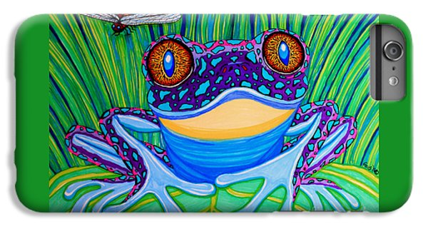 Bright Eyed Frog IPhone 6 Plus Case by Nick Gustafson