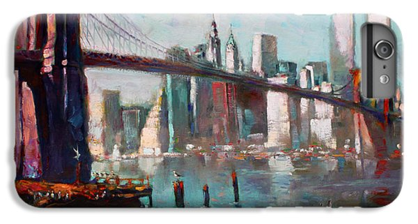Brooklyn Bridge And Twin Towers IPhone 6 Plus Case by Ylli Haruni