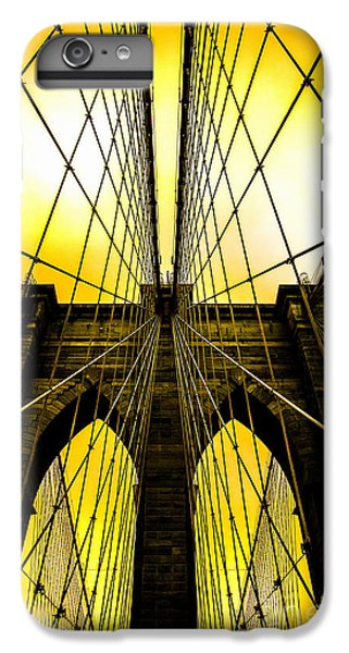 Brooklyn Bridge Yellow IPhone 6 Plus Case by Az Jackson