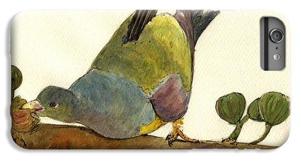 Bruce S Green Pigeon IPhone 6 Plus Case by Juan  Bosco
