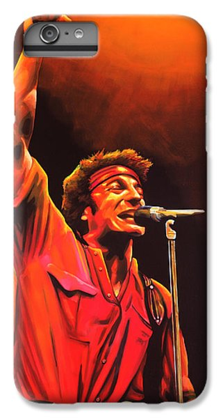 Bruce Springsteen Painting IPhone 6 Plus Case by Paul Meijering
