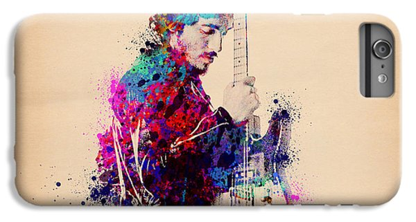 Bruce Springsteen Splats And Guitar IPhone 6 Plus Case by Bekim Art
