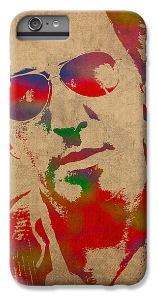 Bruce Springsteen Watercolor Portrait On Worn Distressed Canvas IPhone 6 Plus Case by Design Turnpike