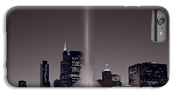 Buckingham Fountain Nightlight Chicago Bw IPhone 6 Plus Case by Steve Gadomski