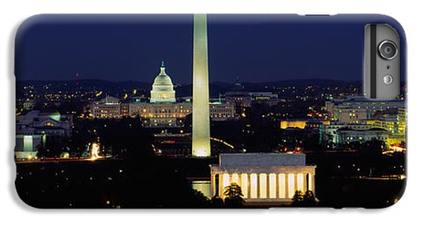 Buildings Lit Up At Night, Washington IPhone 6 Plus Case by Panoramic Images