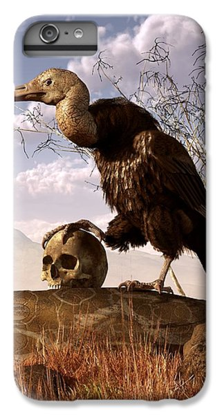Buzzard With A Skull IPhone 6 Plus Case by Daniel Eskridge
