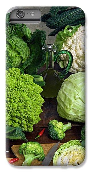 Cabbages -clockwise- Broccoli IPhone 6 Plus Case by Nico Tondini