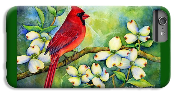 Cardinal On Dogwood IPhone 6 Plus Case by Hailey E Herrera