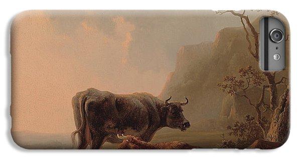 Cattle In An Italianate Landscape IPhone 6 Plus Case by Jacob van Strij
