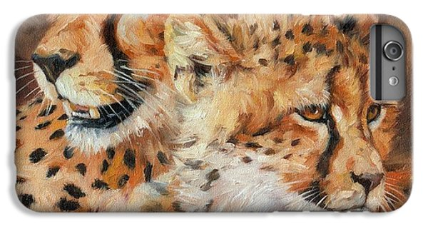 Cheetah And Cub IPhone 6 Plus Case by David Stribbling
