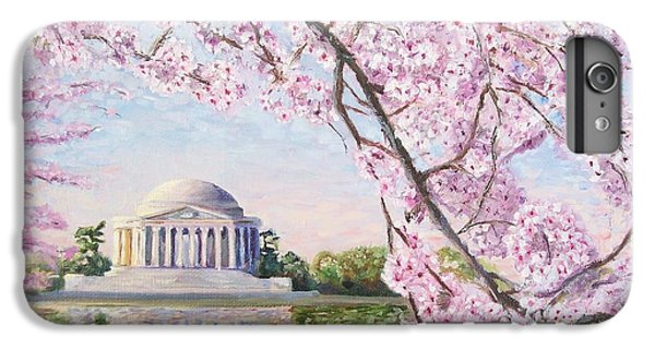Jefferson Memorial Cherry Blossoms IPhone 6 Plus Case by Patty Kay Hall