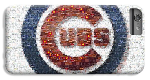 Chicago Cubs Mosaic IPhone 6 Plus Case by David Bearden