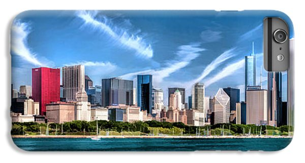 Chicago Skyline Panorama IPhone 6 Plus Case by Christopher Arndt